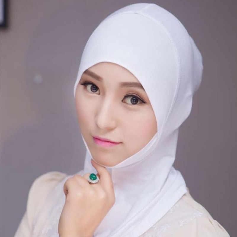 2020 Copertura Completa Interno Caps Hijab Musulmano Cappello Turbante Per Le Donne Islamico Underscarf Cofano Solido Modale Collo Testa Sotto La Sciarpa cappelli