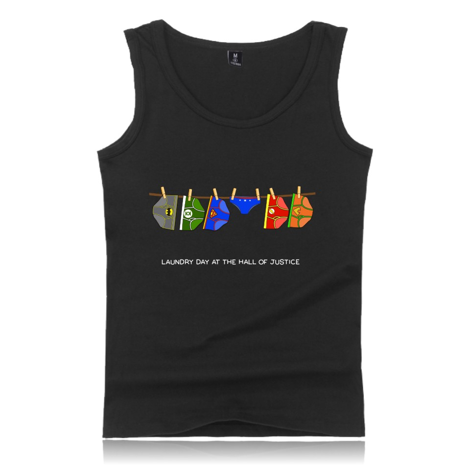 Justice league Tank Tops New Summer Style Men S T-shirt Plus Size T-shirt O-neck Customize Printed Tee Justice league