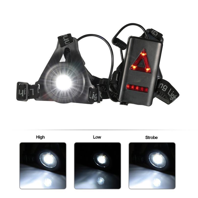 New Outdoor Running Lights LED Night Running Flashlight USB Charge Chest Lamp Outdoor Bicycle Accessories Good Quality Dec 21 strange new supernatural night lights