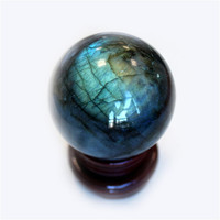 Natural Labradorite Rose Amethyst Sphere Crystal Ball 6cm Quartz Point Healing Crystal Stone Handmade Home Decor Gemstone ma09