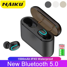 NAIKU Wireless Headphones 5.0 Stereo Earbuds Bluetooth Earphone Headphones TWS Wireless Bluetooth Headset with Charging Box tws earbuds wireless headphones bluetooth earphone stereo headset earphone for phone with charging box bluetooth headphones