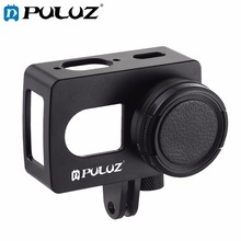 PULUZ Housing Shell CNC Aluminum Alloy Protective Cage with 37mm UV Lens for Xiaomi Xiaoyi II 4K Action Camera