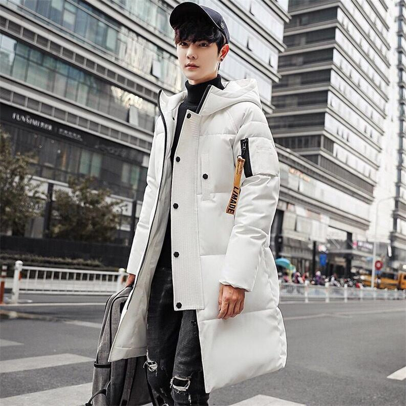 New Fashion Winter Men Thickening Casual Cotton Padded Jacket Windproof Breathable Long Coats   Parka   Plus Size 3XL Hooded   Parkas