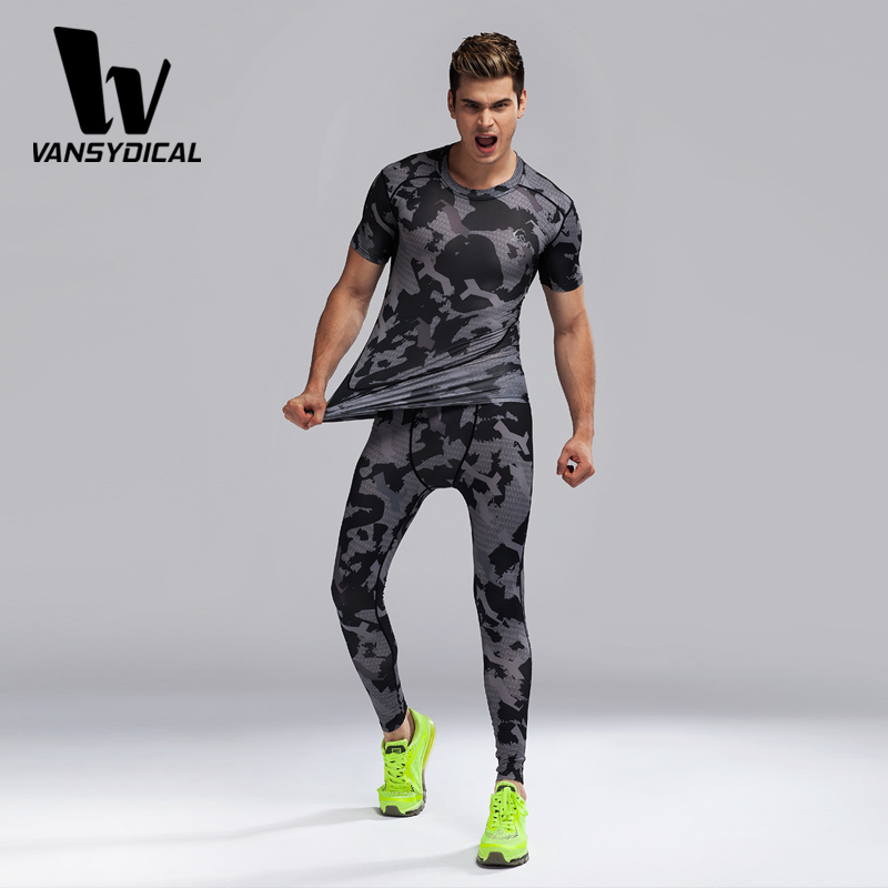 685fc81e3f Mens Boys Compression Base layer Top tight Shirt + Leggings Set Running  fitness training clothing set-in Running Sets from Sports & Entertainment  on ...