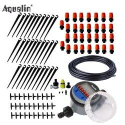25m automático micro sistema de irrigação por gotejamento jardim spray de irrigação auto kits de rega com dripper ajustável # 21026i