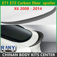 E71 E72 Carbon fiber Performance style spoiler rear trunk lip wings for BMW X6 2008-2014