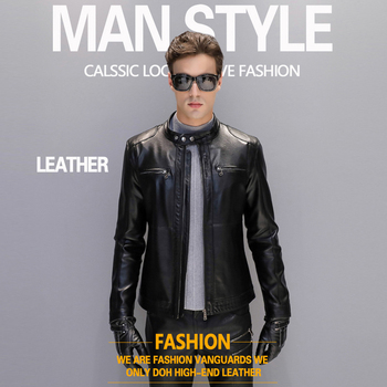 Size 5XL Men's Fashion Leather Jackets Men Stand Collar Coats Male Motorcycle Leather Jacket Casual Slim Brand Clothing jaqueta