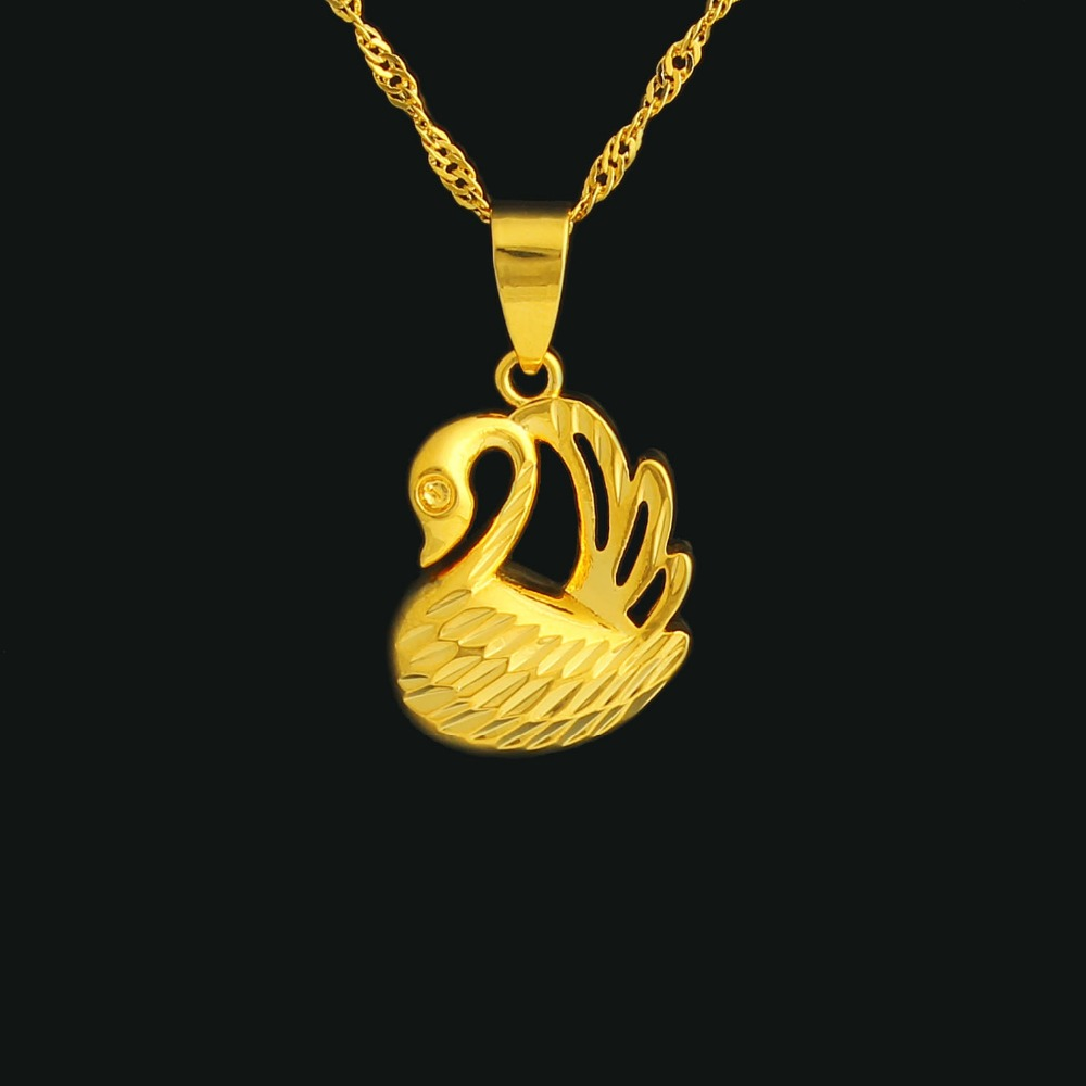 2016 The New Trendy The Goose Pendant Jewelry Gold color Fashion Jewelry For Women