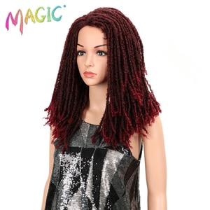 Image 2 - MAGIC Hair 22 Inch Synthetic wigs Dreadlocks Braid Hair Synthetic Dreads Braiding wigs Extension Brown Braids Faux Locs Hair