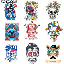 ZOTOONE Skull Cartoon Patch Clothing Patterns Heat Transfer Grade A Powder DIY Individual T-shirt Lion Hot Printing Sticker D