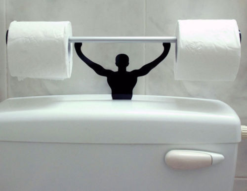 Funny Bathroom Toilet Paper Tissue Roll Holder Stand Strong Man