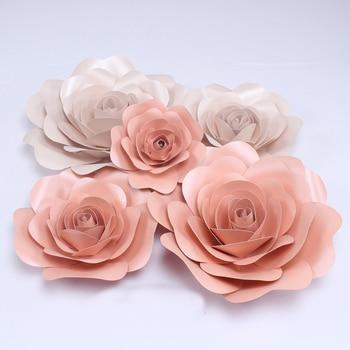 5x20cm Paper flower Party Christmas Wedding decoration Large Artificial Paper flowers Romantic Party paper flower,shooting props
