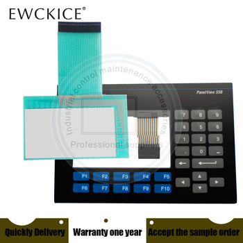 NEW Panelview 550 2711-B5A1 2711-B5A2 2711-B5A3 2711-B5A5 HMI PLC Touch screen AND Membrane keypad