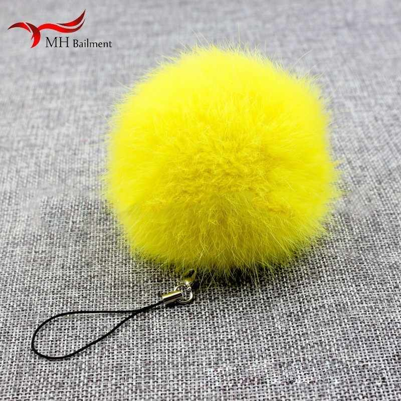 Fur DIY hair ball real rabbit fur grass ball DIY leather and fur accessories creative small jewelry wholesale ornaments gifts