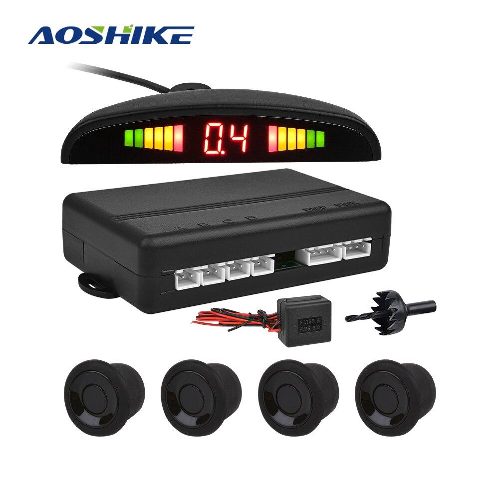 AOSHIKE 24V 22MM Mit Summer Parkplatz System Sensor mit 4 Sensoren Reverse Backup Parkplatz Radar Für Container lkw