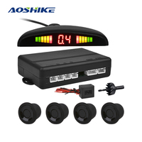 AOSHIKE 24V 22MM With Buzzer Parking System Sensor with 4 Sensors Reverse Backup Car Parking Radar For Container Truck