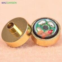 MACGARSEN 10pcs 10mm DIY headset Accessories Subwoofer Headphone Replacement Golden Speaker Unit Repair Horn Upgrade