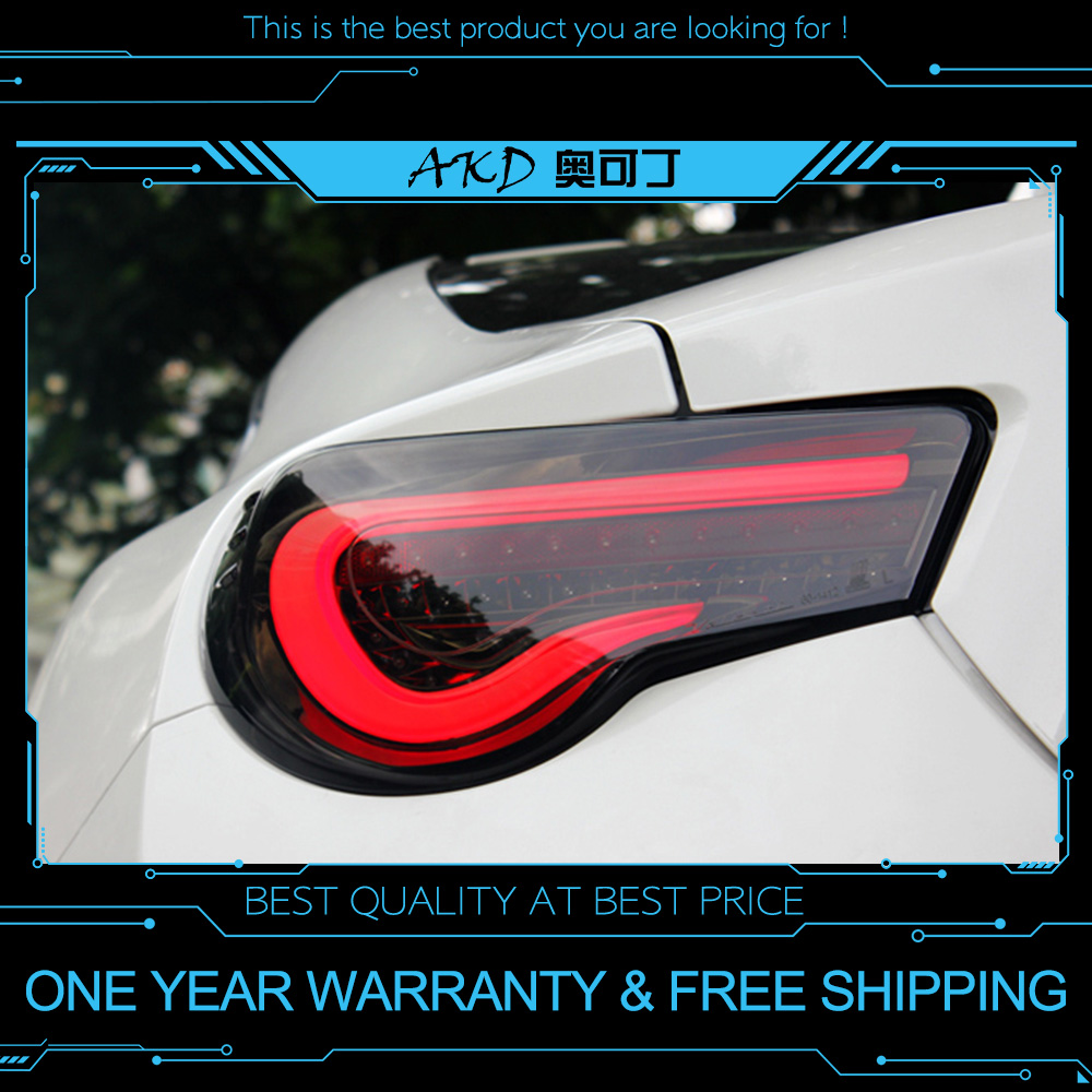 AKD Tuning Cars Tail Lights For Toyota GT86 86 Taillights LED DRL Running Lights Fog Lights Angel Eyes Rear Parking Lights