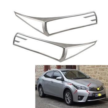 2pcs High quality ABS Chrome Car Head lamp cover For Toyota E170 Corolla (Australia) 2014-2017 Headlight cover