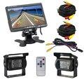 """Dual Kit de Cámara y Monitor de Copia de seguridad Para El Autobús Camión RV, IR LED de Visión Nocturna Impermeable Cámara de Visión Trasera + 7 """"LCD Monitor de Visión Trasera"""