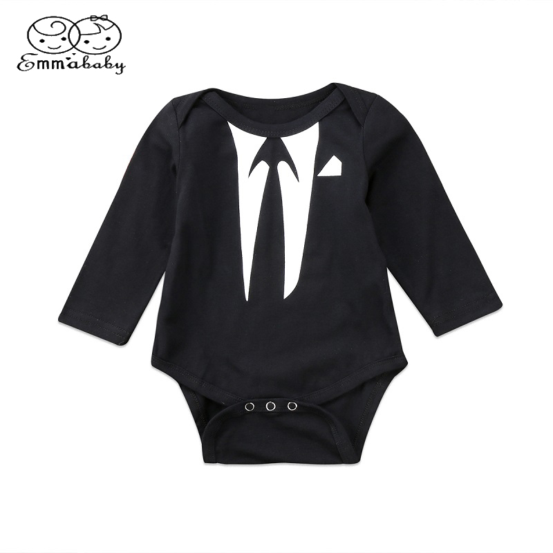 Emmababy Lovely Romper Clothing Newborn Infant Baby Boy Long Sleeve Romper Jumpsuit Cotton Clothes