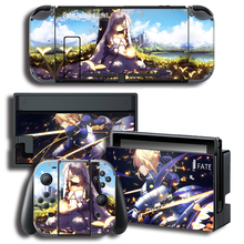 Protector Cover Decal Vinyl Skin Saber FATE Sticker for Nintendo Switch NS Console+Controller+Stand Holder Color sticker