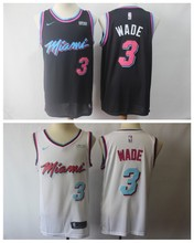 e001403fcdb6 Free shipping A+++ quality Mens Adult  3 Dwyane Wade 7 Goran Dragic 21  Hassan Whiteside Jersey Miami short
