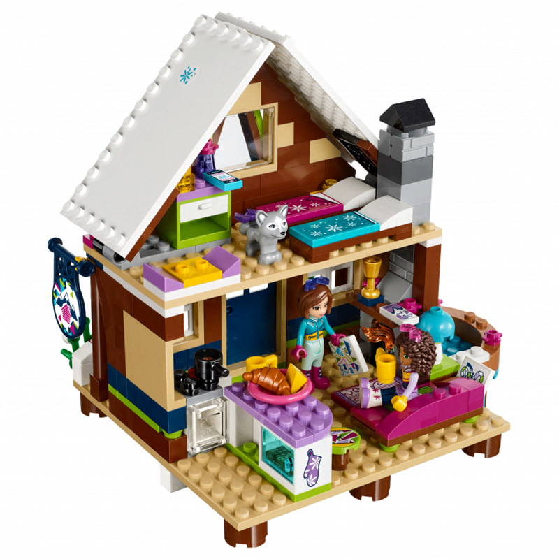 01040 Friends Girl Series 514pcs Building Blocks toys Snow resort chalet kids Bricks toy girl gifts Compatible Legoe 41323 lepin 01040 friends girl series 514pcs building blocks toys snow resort chalet kids bricks toy girl gifts lepin bricks 41323