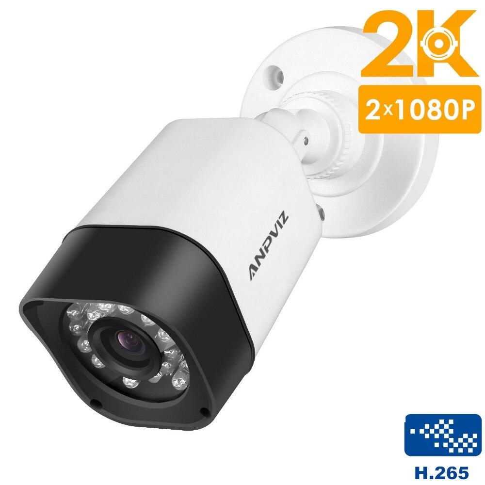 Anpviz H.265 caméra IP POE 4.0MP 2 K HD caméra de Surveillance vidéo de sécurité étanche extérieure Onvif