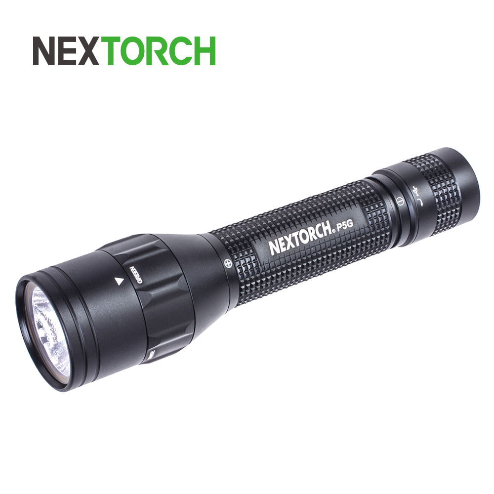 NEXOTRCH P5 Dual-light 800 Lumens USB Charging Flashlight 18650 Battery DUO Switch Handheld Torch For Hunting Tactical Rescue