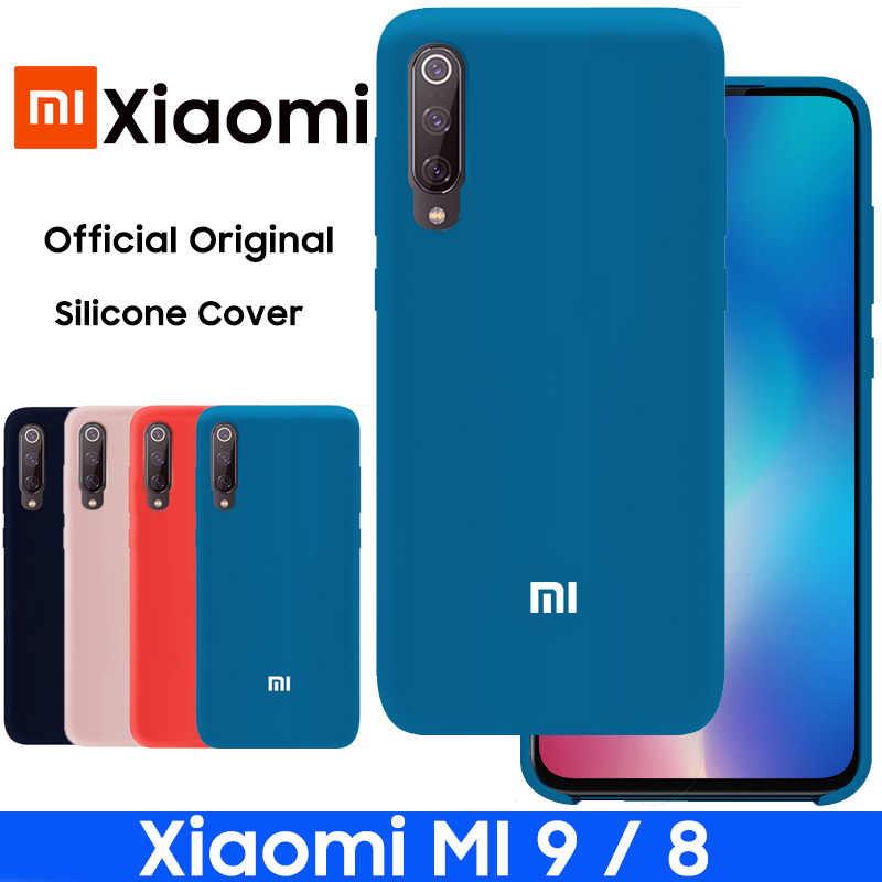Xiaomi MI 9 funda oficial Original de silicona líquida funda protectora Xiaomi MI 8 funda Mi9 Mi8 Multicolor Simple