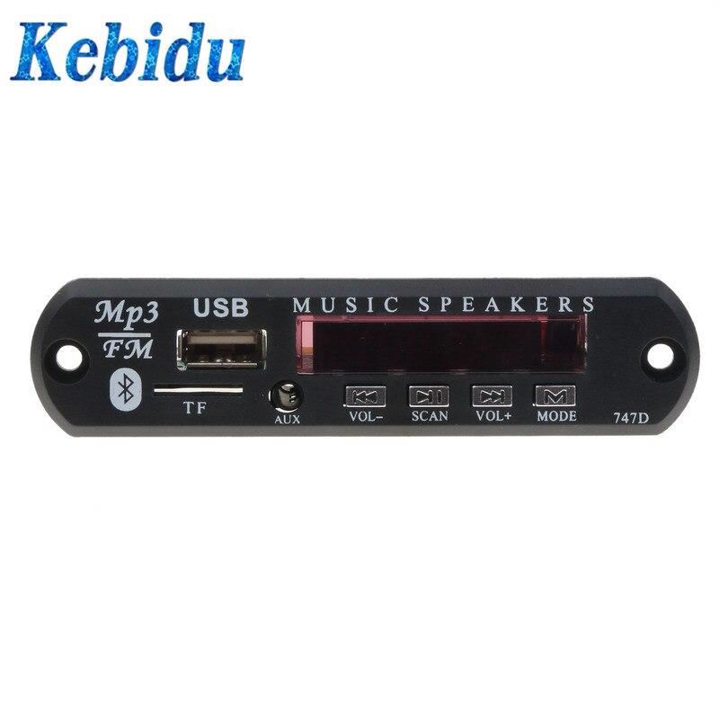 Unterhaltungselektronik PüNktlich Kebidu Bluetooth Dc 5 V Mp3 Wma Decoder Board Drahtlose Auto Fahrzeuge Audio Modul Usb Fm Tf Radio Neueste Für Auto Mp3 Zubehör Mp3-player