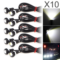 2017 NEW 10 X 9W 18mm 12V White LED Eagle Eye Light Car Fog DRL Daytime
