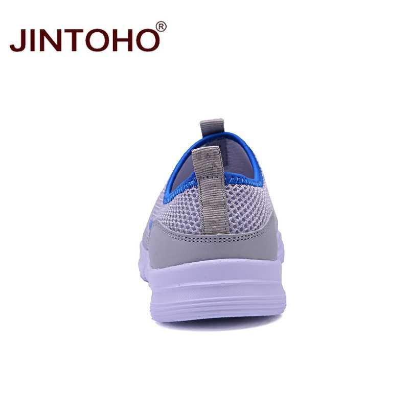 Лето jintoho дышащая мужская повседневная обувь дешевая сетчатая Мужская обувь брендовые мужские модные кроссовки Слипоны мужские мягкие кожаные ботинки кэжуал