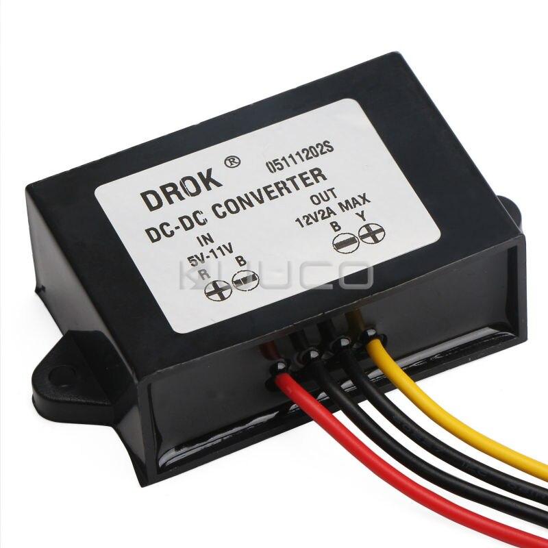 24W Boost Converter DC 5V~12V to 12V 2A Power Supply Module/Voltage Regulator/Car Adapter/Driver Module produino 5v voltage boost mobile power module green 1a