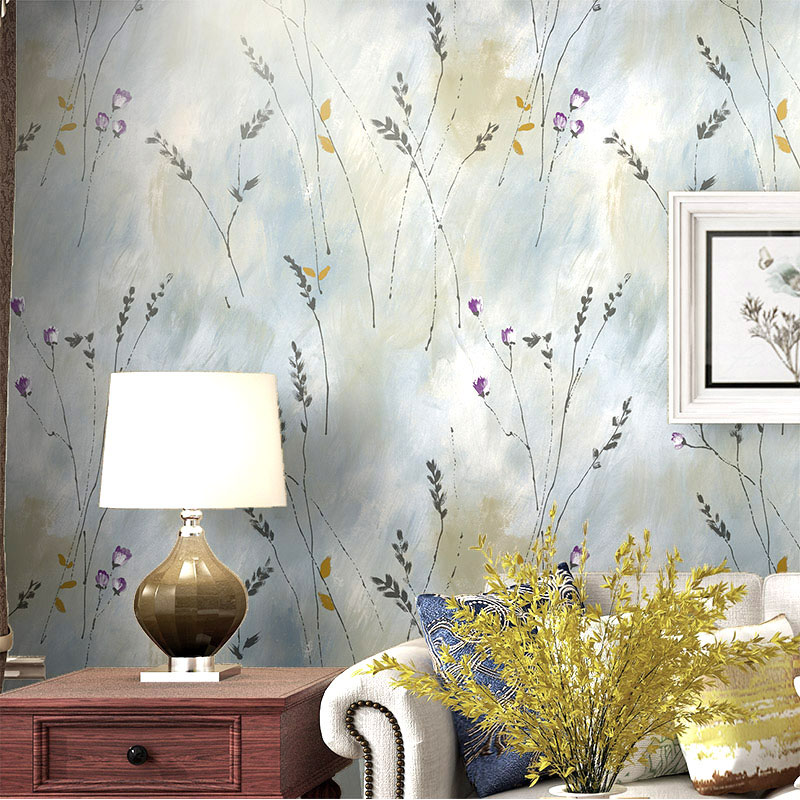 American Wall Papers Roll Home Decor Rustic Leaves Embossed Vintage Wallpaper Flower for Room Walls papel mural Papel De Parede in Wallpapers from Home Improvement