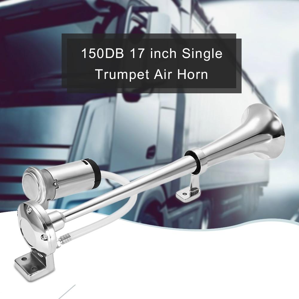 Universal 178dB 12V Air Horn Dual Trumpet Compressor Super loud Gold ...