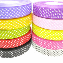 suoja 5 yards 1 25mm Ribbon Wedding Party Decoration Printing Dot Organza Ribbon Gift Wrapping Hair Bows DIY Christmas Ribbon suoja