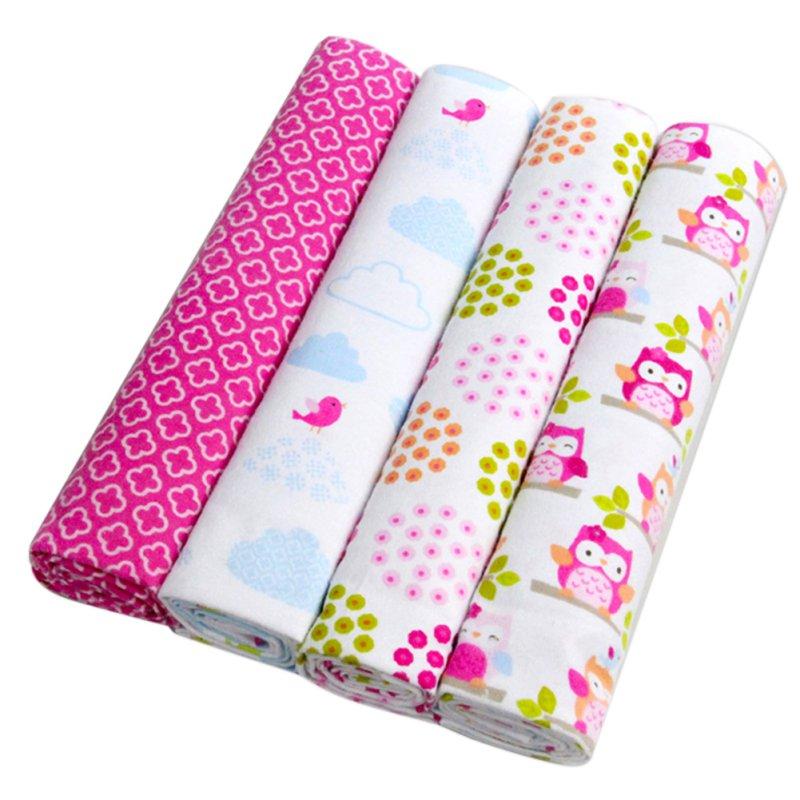 Newest 4Pcs Pack 100 Cotton Soft Baby Blanketborn Infant Bedsheet 102 76CM Kids Blankets