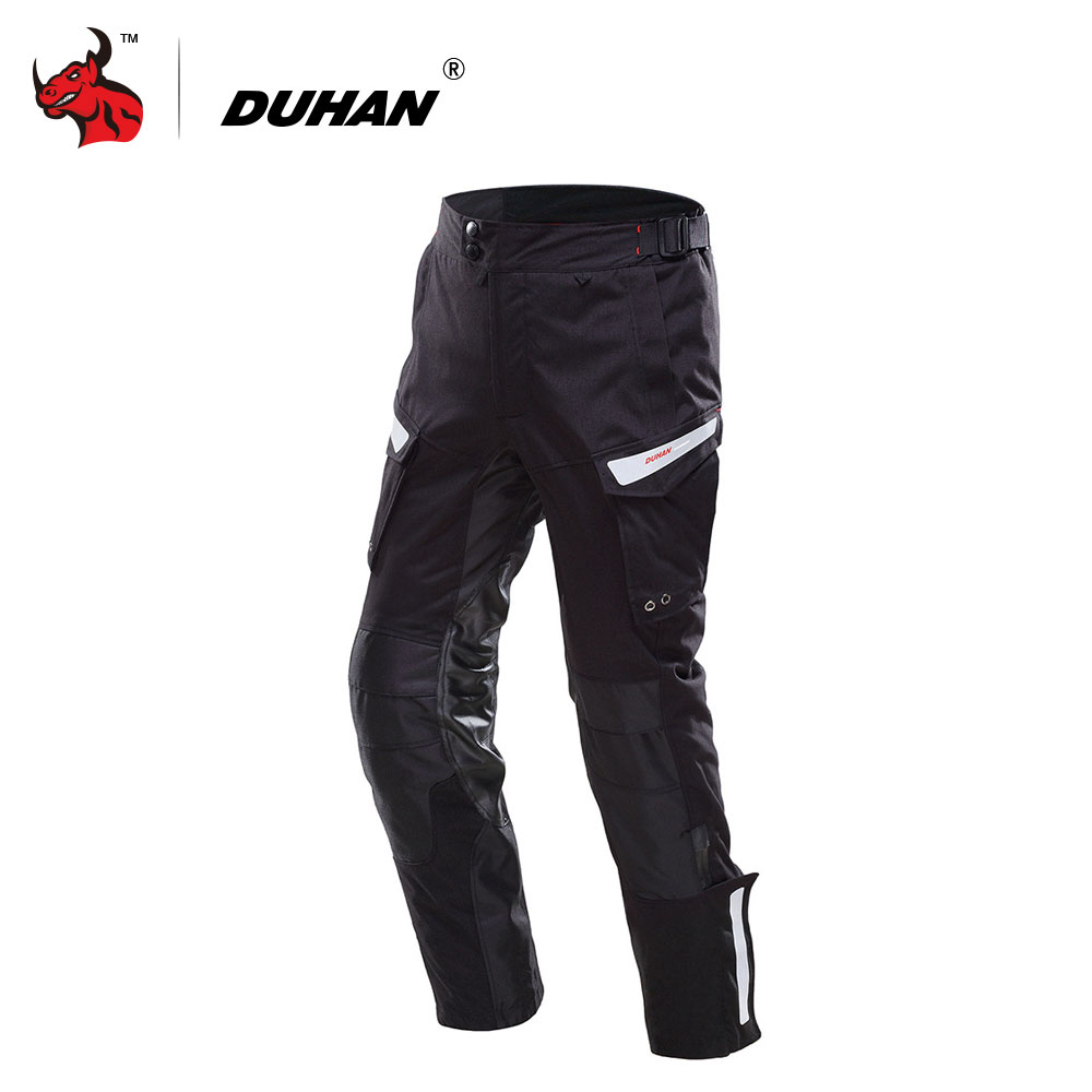 DUHAN Waterproof Motorcycle Pants Motorcycle Enduro Riding Trousers Motocross Off-Road Racing Pants Pantalon Motocicleta Black duhan motorcycle waterproof saddle bags riding travel luggage moto racing tool tail bags black multifunction side bag 1 pair
