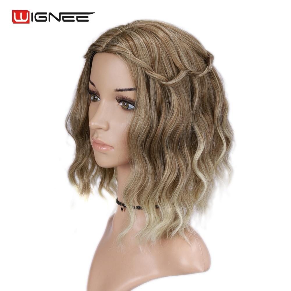 Wignee Mixed Color 613 Korta Kinky Curly Parykar För Kvinnor Hög - Syntetiskt hår - Foto 4