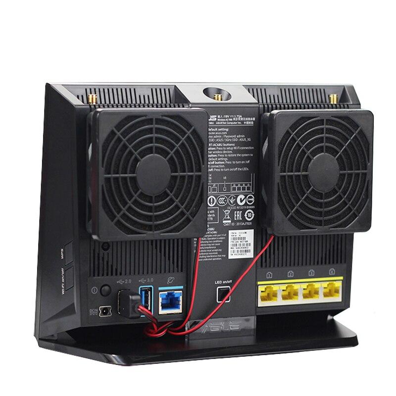 PARA ASUS RT-AC68U EX6200 5 v mudo ventilador USB do roteador, refrigeração R7000 wi-fi Sem Fio Netgear EA4500 R6300 R6200 7 CENTÍMETROS USB Cooler FAN 70mm