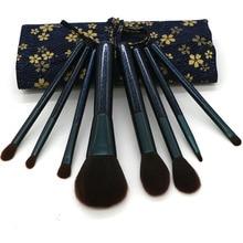 8pcs/Set Makeup Brush Kit Professional Eyeshadow Brushes Tool For Foundation Powder Blush Concealer Eyeliner Make Up Black