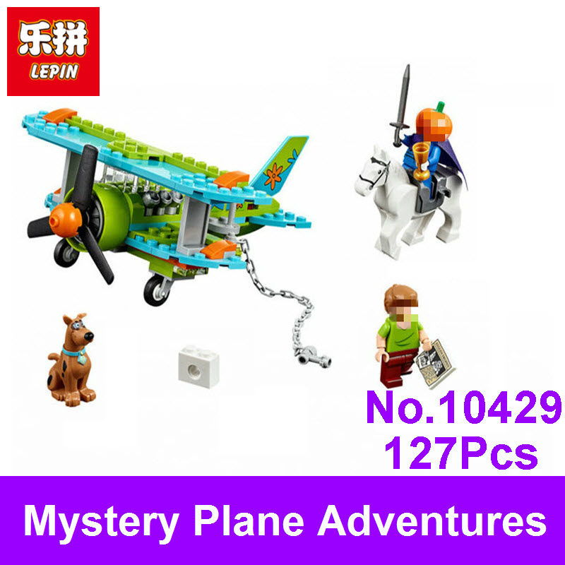 LEPIN New BELA 10429 Scooby Doo Mystery Plane Adventures Machine Figure Set Building Blocks Bricks Compatible With 75901 Kid Toy футболка toy machine leopard brown