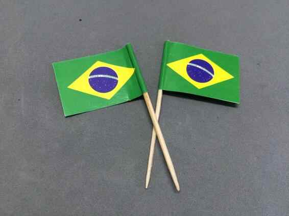 Mini 50Pcs Brazil Toothpick Flags Paper Food Picks Cake Toothpicks Cupcake Toppers Fruit Cocktail Sticks Decoration Toothpicks