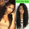 8A Llena Del Cordón Pelucas de Pelo Humano Para Las Mujeres Negras Sin Cola Llena Del Cordón Beyonce peluca de la Onda de Agua Del Frente Del Cordón Pelucas de Pelo Humano Con El Pelo Del Bebé