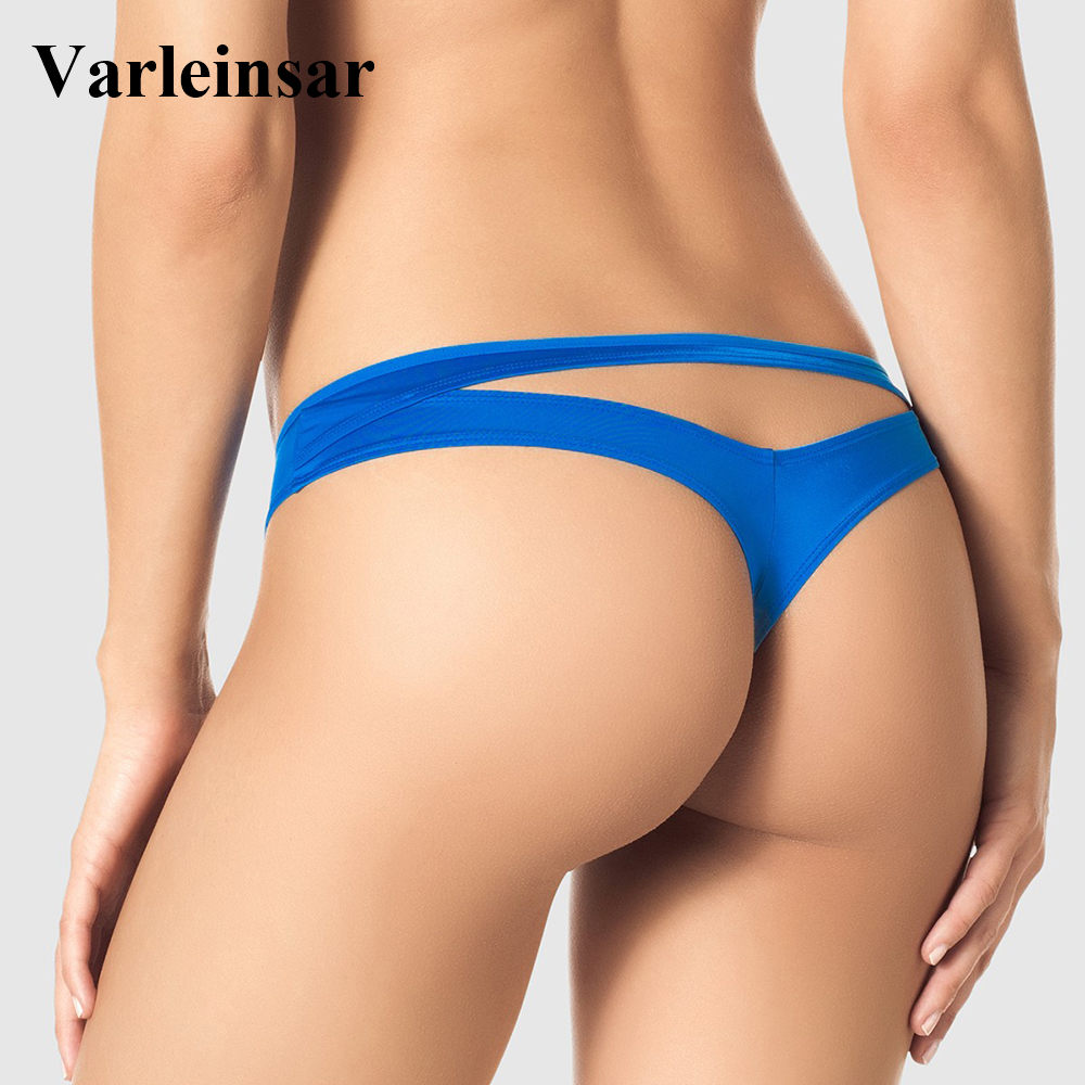 Bather 2019 New brazilian bikini bottom women swimwear female thong  swimsuit tanga micro brief Panty Underwear V505-in Two-Piece Separates from  Sports ...