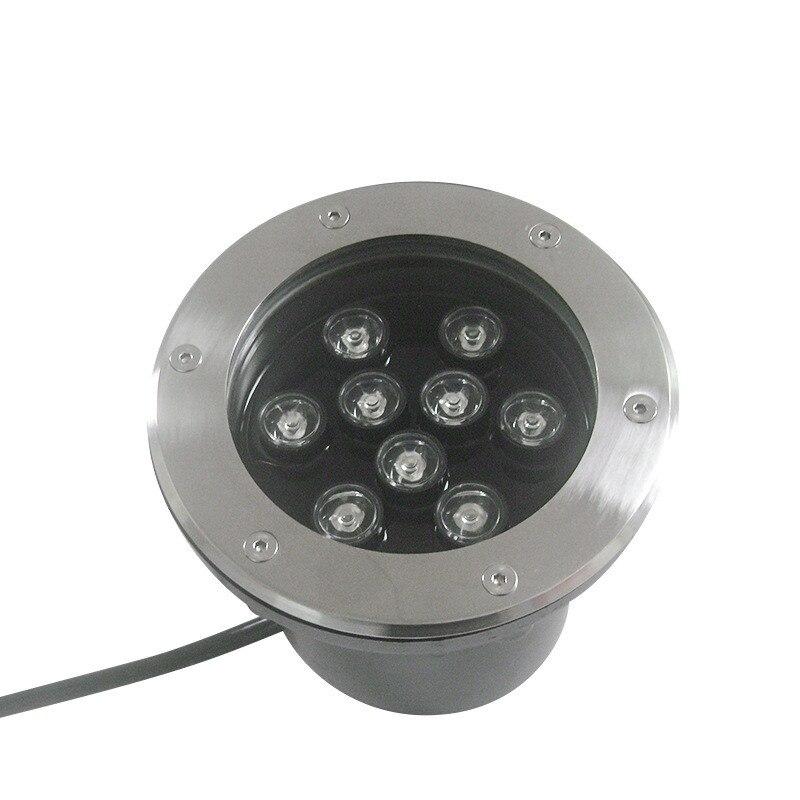 20X DHL IP68 Водонепроницаемый 1 Вт-18 Вт AC85-265V открытый первый сад способ Пол подземный похоронен лампы двор Landscapebulb свет