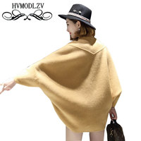 Cashmere Short Woolen Ladies 2017 Autumn Winter Loose Bat Sleeves Double Sided Coat Female Fallow High Grade Lady Jacket ls388
