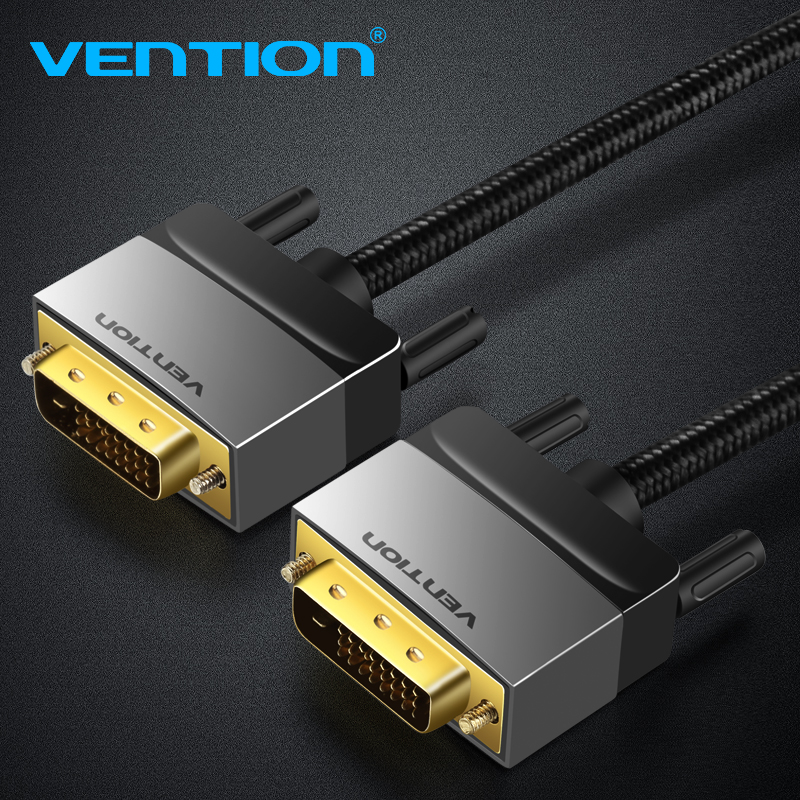 Vention DVI Cable DVI D 24+1 Cable DVI to DVI Cable Male to Male Video Cable 3m/1m/2m/for Computer Projector Laptop TV Monitor 1m 1 8m 3m e sata esata male to male extension data transfer cable cord for portable hard drive 3ft 6ft 10ft